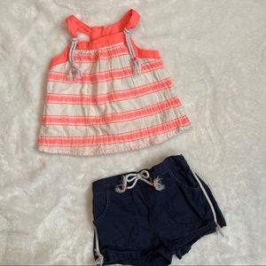 Cynthia Rowley 2T 2 piece matching outfit